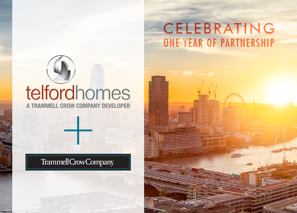 Trammell Crow Company and Telford Homes Celebrate First Anniversary of the Deal That Brought the Firms Together