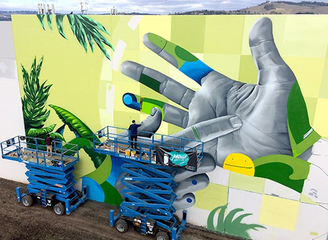Four Murals for San Leandro Business Center Unveiled